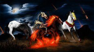 Die Reiter der Apokalypse: Tod, Krieg, Hunger, Krankheit (Foto: ZERIg / pixabay.de)